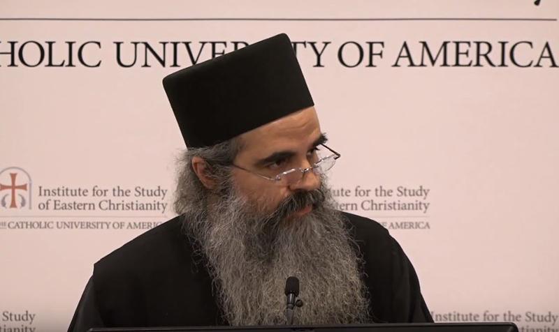 Ιερομόναχος Χρυσόστομος – Παρουσίαση σε Πατερικό Συνέδριο στην Ουάσινγκτον των ΗΠΑ, Φεβρουάριος 2020